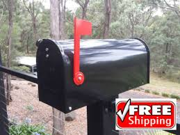 Mailbox with mail indicator Gibraltar Us Style Letterbox Mail Box American Mailbox Indicator Black New Galvanized Make Magazine Mailbox Got Free Shipping au