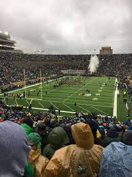 Notre Dame Stadium Section 17 Home Of Notre Dame Fighting