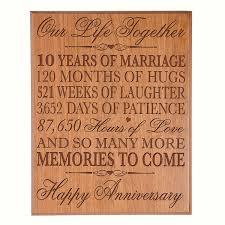 anniversary plaque 10th