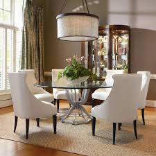 omni metal base dining table and upholstered chair set by century baer s furniture dining 7 or more piece set miami ft lauderdale orlando