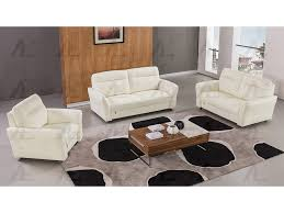 white leather sofa set