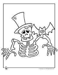 Small Picture Halloween Skeleton Coloring Pages Coloring Coloring Pages