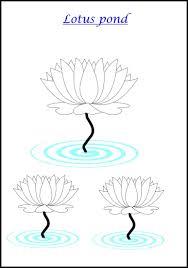 Beautiful Lotus pond coloring page
