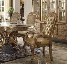 Dresden Dining Table Gold Patina By Acme
