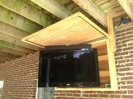 outdoor tv cabinet with lift building waterproof outside plans