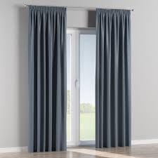 blackout pencil pleat curtains 140 x 260 cm approx 55 x 102 inch