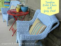 painted wicker furnitureTransform Wicker Chairs with Spray Paint  Organize and Decorate