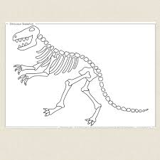 Colouring Pictures Of Dinosaur Skeletons: Free t rex skeleton ...