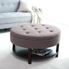 large round coffee table ottoman inside large round ottoman coffee table design large tufted leather ottoman