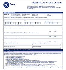 Loan Application Form Loan Application Templates 7 Free Sample Example Format Sample Of
