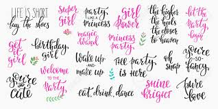 Lettering Typography Party Girl Overlay Set Motivational Quote