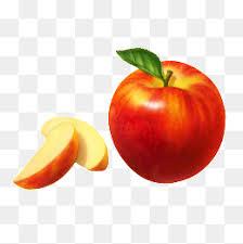 red apple slice. apple slices, apple, slice, one png image red slice