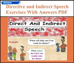 Reported Speech Chart Direct And Indirect Speech Exercises With Answers Pdf