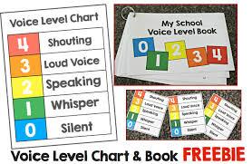 Voice Level Chart Freebie Make Take Teach