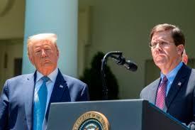 El jefe del Pentágono contradice a Trump al rechazar un despliegue militar  en EE.UU. - Infobae