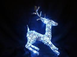 Christmas Decorations Light Up Cm Silver Reindeer Led Lights Outdoor Indoor