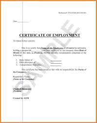 Certificate Of Employment Sample Draft Copy 5 Salary Certificates