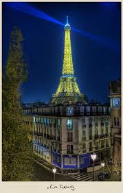 That's a must see at night. Illuminated Eiffel Tower At Night In Paris France