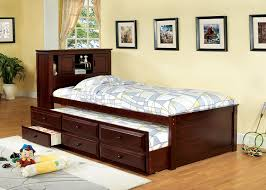 Captains Bed with Storage and Trundle | Full Size Trundle Beds for Kids | Trundle  Bed
