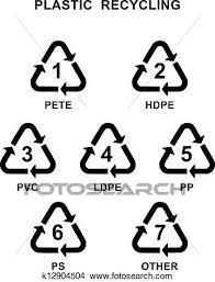 リサイクル プラスチック シンボル クリップアート切り張りイラスト絵画集