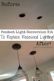 light fixtures convert plug in to ceiling fixture kfmradios convert recessed lights into pendant you convert recessed light into chandelier designs
