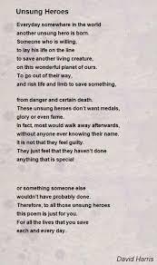 heroes poems