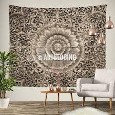 >bohemian spirit designer art tagged wood mandala wall art print  mandala tapestry carved wood mandala wall tapestry carved wood tapestry wall hanging