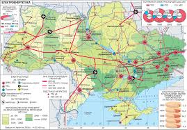 Электроэнергетика Украины Карта электростанций Украины