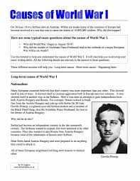 wwi essay causes of world war world war revision school history  causes of world war world war revision school history causes of world war 1 revision