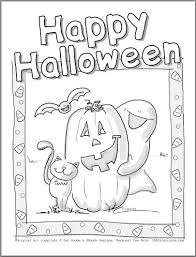 Cute Halloween Coloring Pages Getcoloringpagescom
