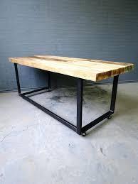 tables on wheels office. Metal Desk On Wheels Industrial Chic Reclaimed Custom Office Desks Table Trends Tables O