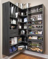 Furnitures:Awesome Corner Pantry Closet Design Idea Awesome Corner Pantry  Closet Design Idea