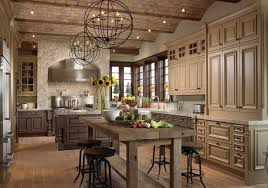 traditional kitchen ideas. Ball Shaped Pendant Lamps With Rustic Kitchen Island Design For Traditional Ideas