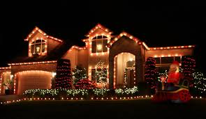 christmas home lighting. Christmas Lights Houses Home Lighting