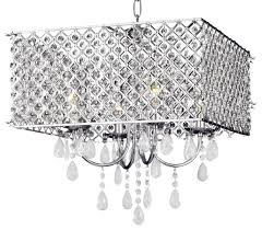 modern chrome crystal light square chandelier traditional