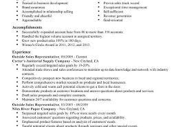 Astounding Sale Representative Resume Template Outside Sales ...