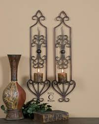 ... Gorgeous Wall Lighting Decoration Using Large Wall Candle Sconces :  Wondrous Tuscan Hand Forged Large Wall ...