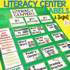 Reading Center Rotation Chart Literacy Center Rotation Board Center Signs