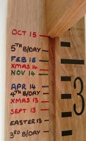 Personalised Wooden Growth Chart Height Chart In Solid Oak