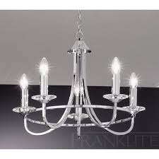 franklite carousel chrome fl  light chrome chandelier  new