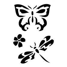 šablona Samolepící Flexi Motýl A Vážka 7x10cm