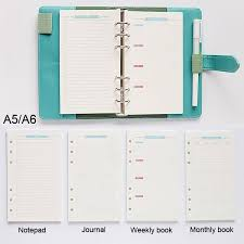 <b>40 Sheet</b>/<b>pack A5 A6</b> Color Loose Leaf Notebook Refill Spiral ...