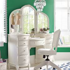 extraordinary white makeup vanity set in bedroom also which has a function as
