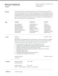 Sample Cv For A Teacher Teaching Template Teacher Humanities And Fr On Examples Of Teachers