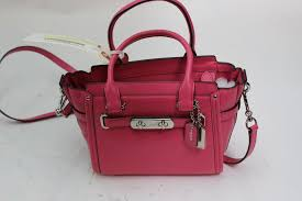 coach pebbled leather swagger satchel handbag