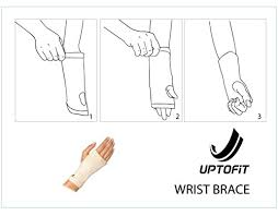 Uptofit Copper Infused Wrist Sleeve Carpal Tunnel Compression Hand Brace Lightweight Every Day And Night Support For