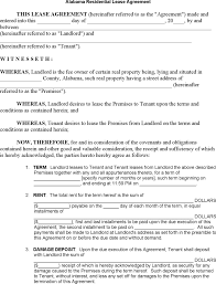 Home Lease Agreement Pdf Lovely Sample Residential Lease Agreement ...
