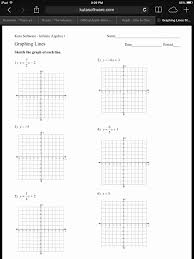 graphing quadratics in standard form worksheet from answer key