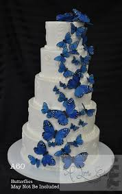 A60 Butterfly Buttercream Wedding Cake With Floral Design