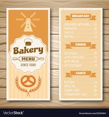 Bakery Shop Menu Royalty Free Vector Image Vectorstock